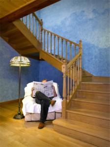 Escalera de madera - Pesquer