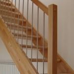 Escalera abierta sin frentes