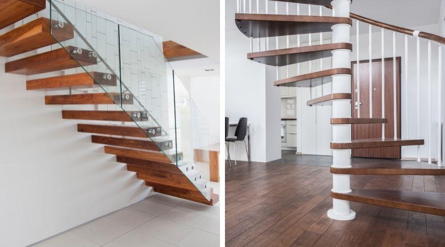 escalera según la forma