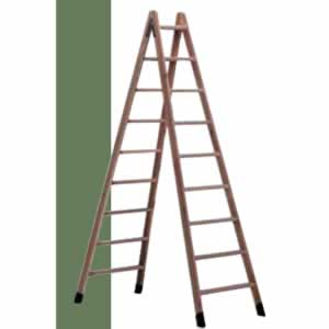 escalera de tijera de madera